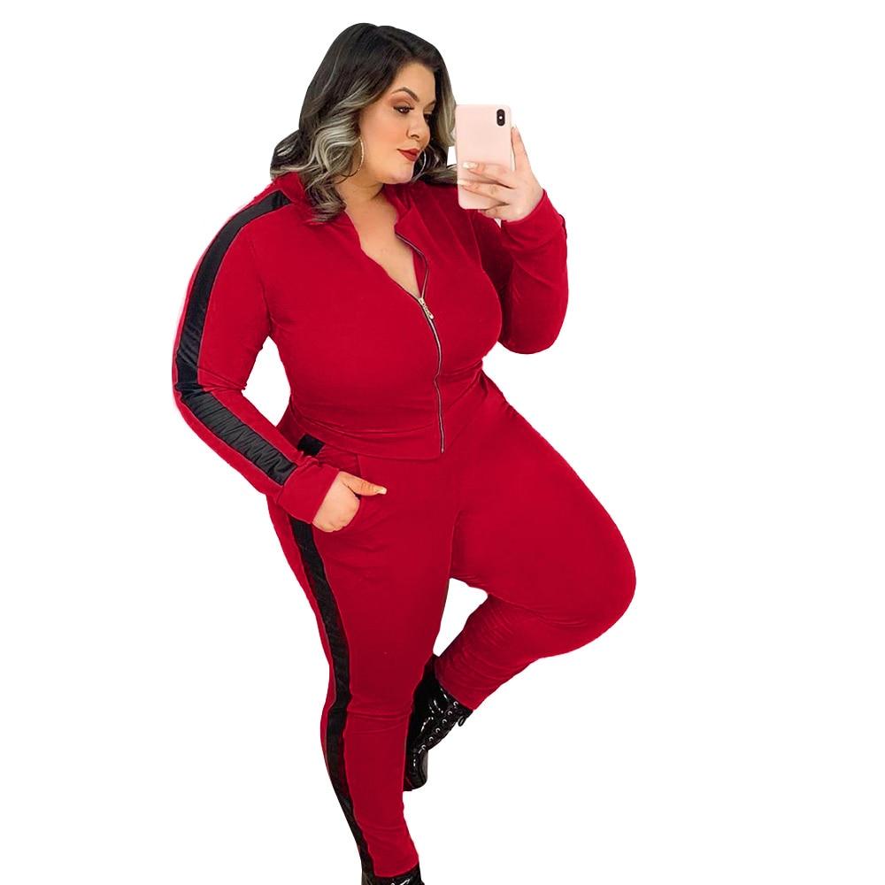 Распродажа, контрастный цвет, Женский комплект одежды, свитшот с капюшоном в полоску сбоку, длинные брюки, спортивный костюм из 2 предметов, ...