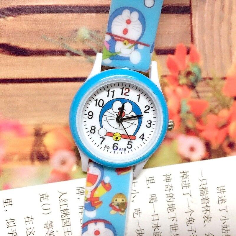 Correa de silicona de dibujos animados impresa Doraemon máquina reloj para niños dingdong cat reloj de cuarzo niño niña reloj niños