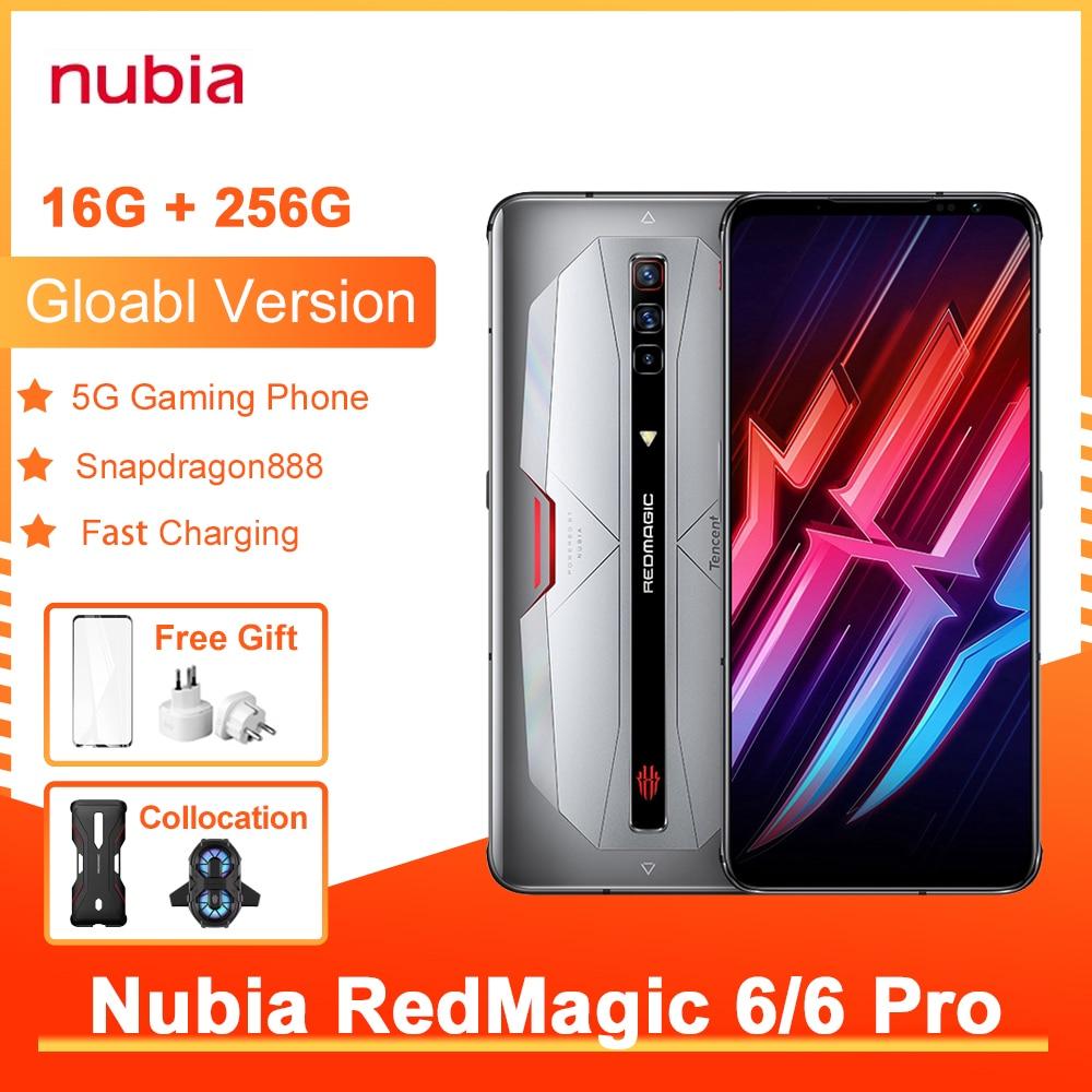 Перейти на Алиэкспресс и купить Игровой смартфон Nubia Red Magic 6 Pro, глобальная версия, NFC, AMOLED экран 6,8 дюйма, Восьмиядерный процессор Snapdragon 888, быстрая зарядка 30 Вт, RedMagic 6 Pro