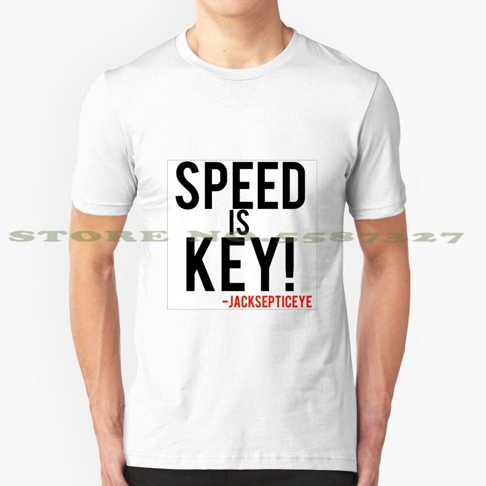 Speed Is Key Jacksepticeye cita gráfica personalizada divertida camiseta de gran oferta Jack Jacksepticeye coche de velocidad rápida de bloqueo de llave de vídeo
