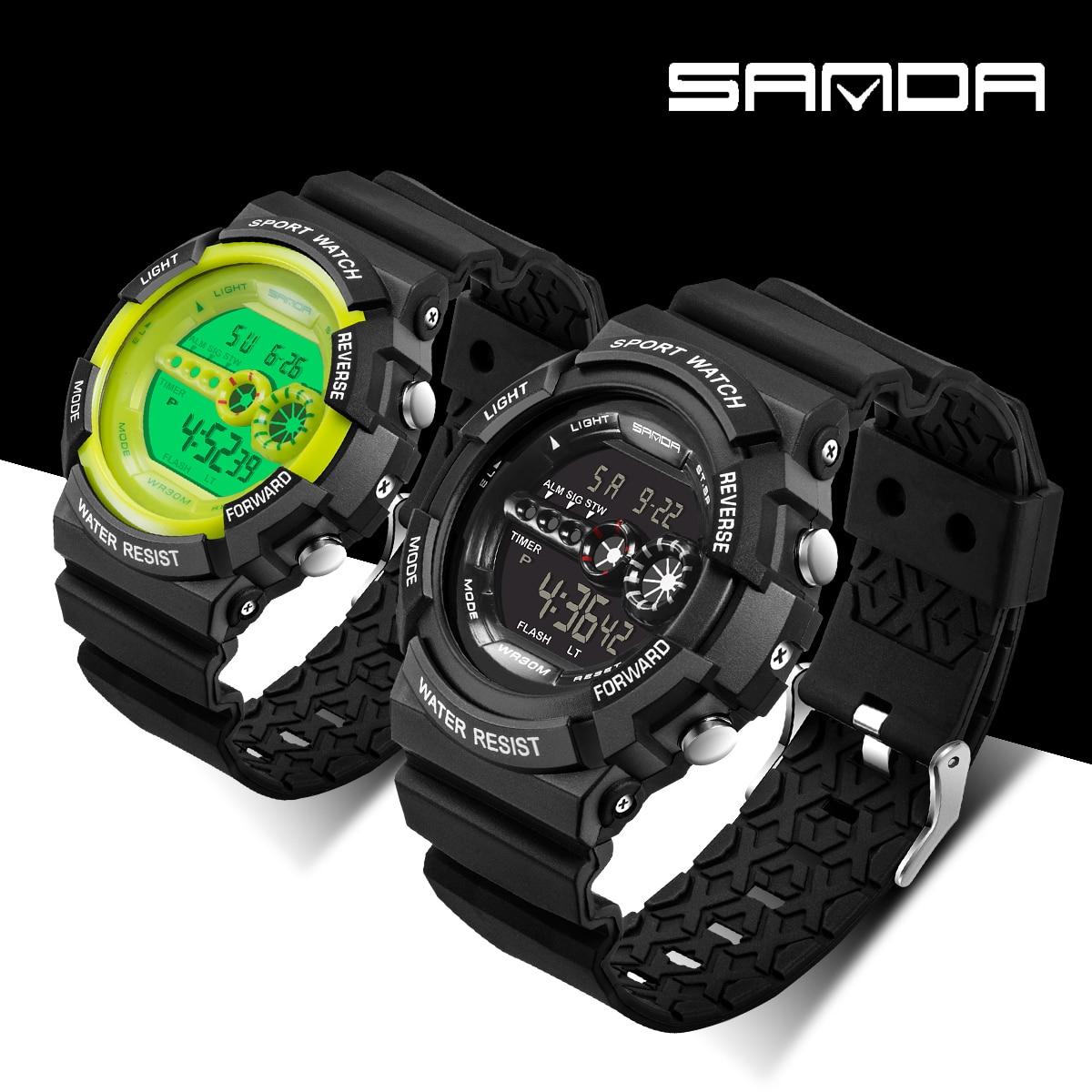 SANDA Digital Watch G Style Man's Outdoors Sports Watch Waterproof Military Shock Resistant Multifunction Watches relojes hombre enlarge