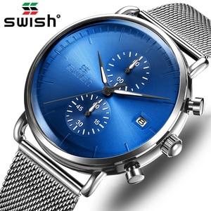 Fashion Reloj Hombre Top Watch Men Luxury Stainless Steel Business Quartz Watches Waterproof Sport Chronograph relogio masculino