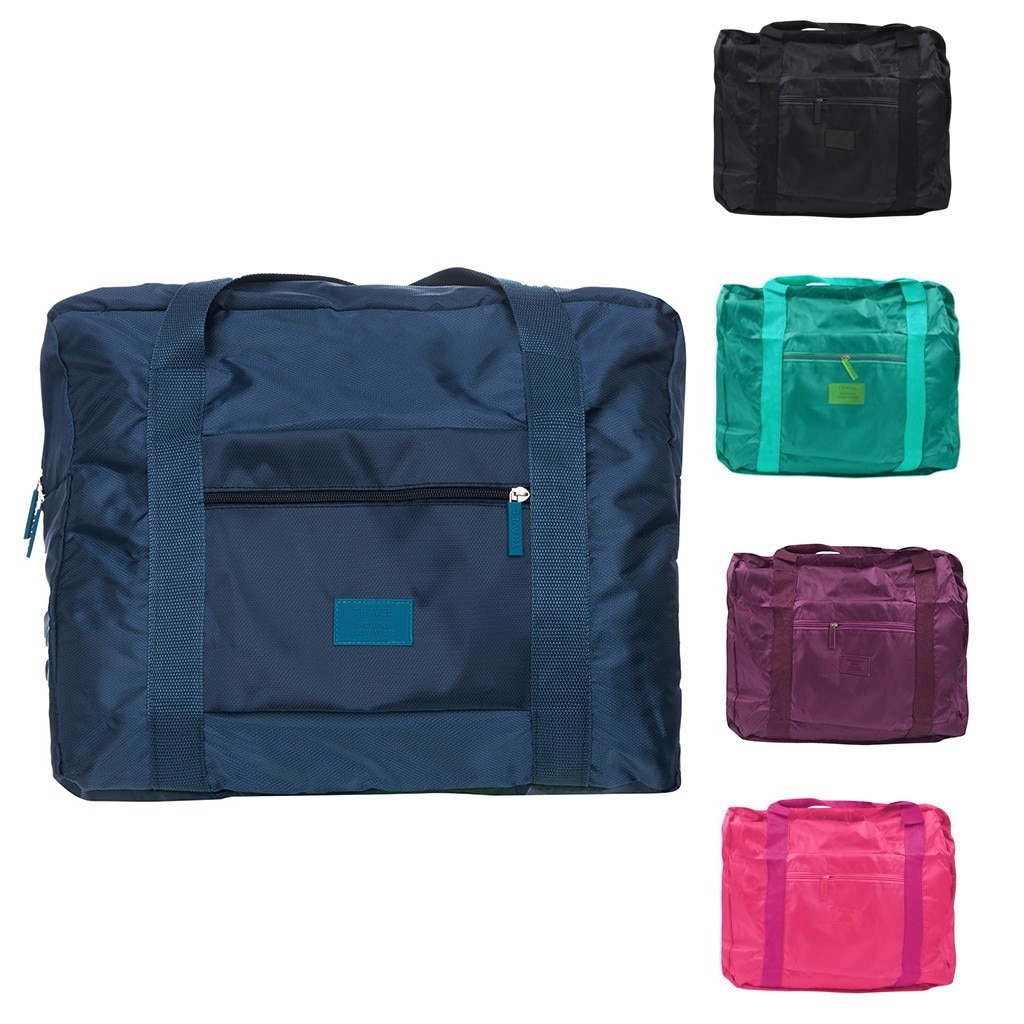 Impermeable bolsa de viaje cubos de embalaje plegable bolsos de viaje bolsos equipaje Bolsa de Almacenamiento de Ropa saco de viaje viajes B gran oferta