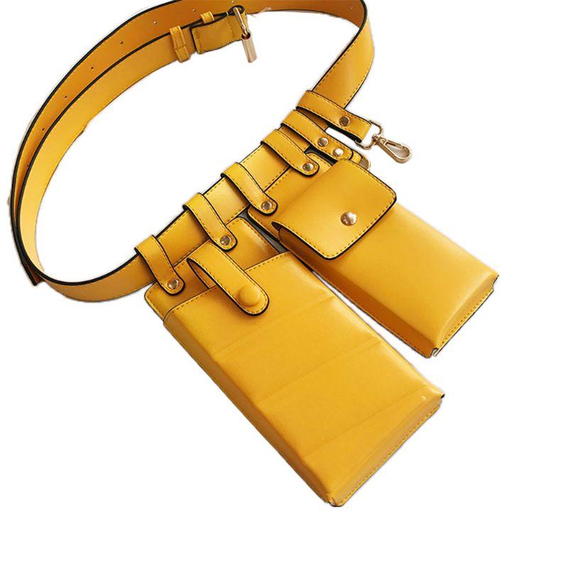 Riñonera de cuero para mujer de moda Bolsa De Teléfono bolsa de viaje de cadera bolsas de hombro bolso