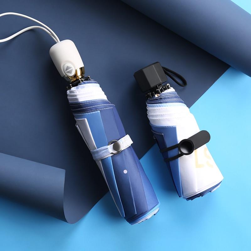 Female Decoration Umbrella Folding Sunscreen Compact Portable Umbrella Five Fold Waterproof Mini Sombrilla Small Gifts AG50ZS enlarge