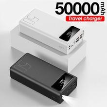 Power Bank 50000mAh Portable Charger LED External Mobile Phone External Battery Charger Powerbank 50