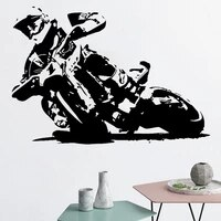 knight wall sticker motorcycle vinyl decal motorcyclist home decor boys kids bedroom decoration motocross art mural removable