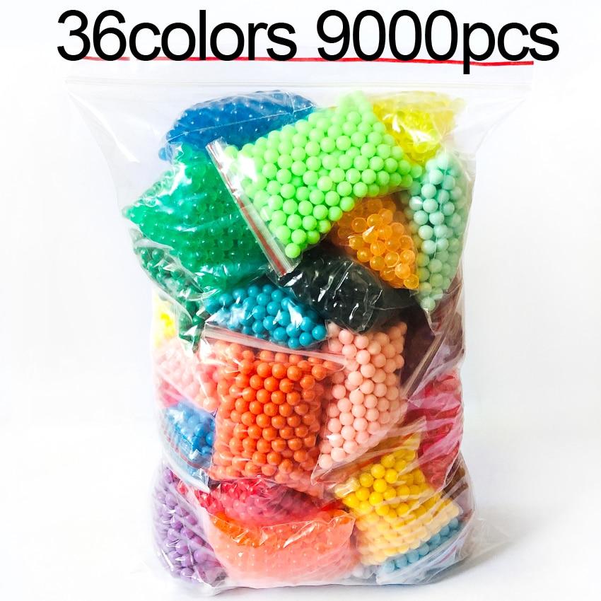 DOLLRYG 36 colores recarga cuentas DIY cuentas con Spray de agua accesorios juegos de pelota 3D hecho a mano juguetes para los niños