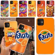 CUCI Fanta boisson Orange Bling mignon étui de téléphone pour iphone 5C 5 6 6s plus 7 8 SE 7 8 plus X XR XS MAX 11 Pro Max