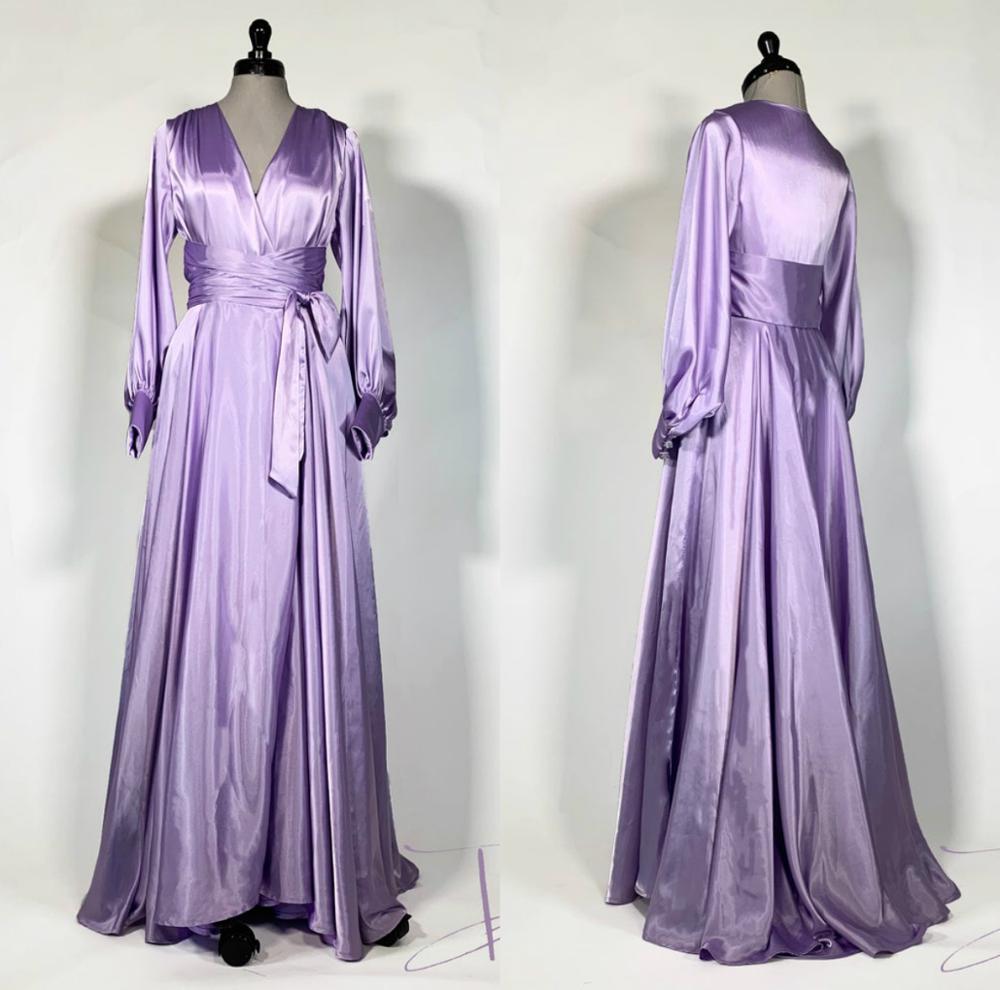 Conjuntos de Bata y bata de encaje para mujer púrpura Albornoz vestido de noche ropa de dormir para mujer vestidos de satén de seda ropa interior femenina