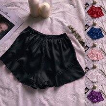 Women Sleep Short Pants Cotton Gauze Pajamas Summer Home Beach Bottoms Lounge Sleepwear Loose Large