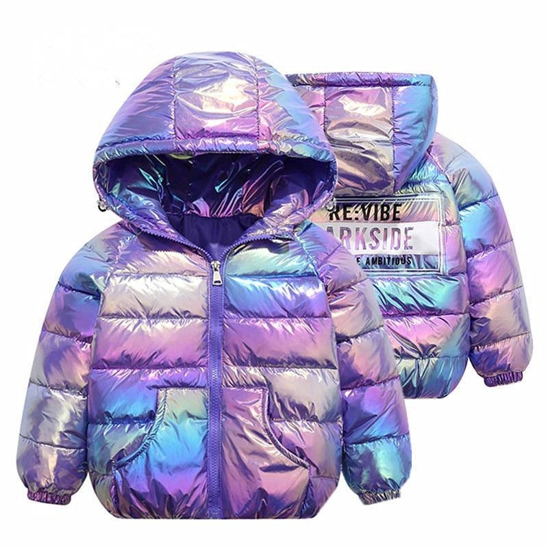 2021 Winter Boys Girls Jackets & Coats Hooded cotton Down & Parkas Doudoune Veste Manteau Outerwear