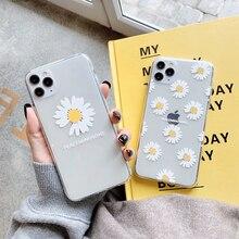Coque de téléphone marguerite transparente mignonne pour Huawei P40 P30 P20 Lite Mate 30 Pro 20 P smart Nova 5t pour Honor 10 8X 9X 7A 8a couverture souple