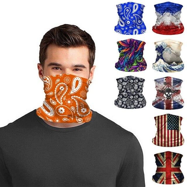 Fashion Men Women Camp Head Face Neck Sunshade Collar Gaiter Tube Bandana Scarf Sports Headwear Scarf Dustproof Outdoor Fishing
