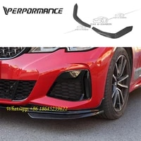 3 series g20 g28 mp style carbon fiber front corner lips for g20 g28 dry carbon front spoiler 2020 year