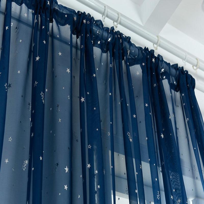 комплект шторы и тюль синель альянс плюс 1405 Синий, тюлевые шторы, занавески, 1 шт. окна шторы крюк красивые окна шторы, перфорация тюль, шторы на крючках по поставке товаров для дома