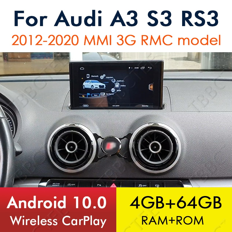 Android 10.0 8 Cores 4+64G For Audi A3 8V 2012~2020 MMi 2G 3G RMC Car Multimedia player GPS Navi player Radio Stereo WiFi недорого
