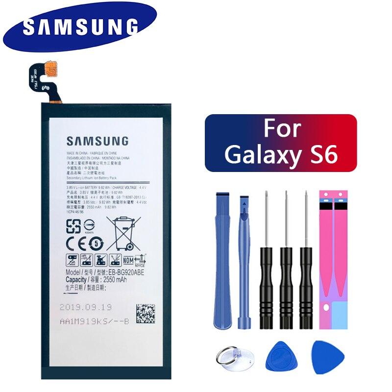 AliExpress - Original SAMSUNG Replacement Battery EB-BG920ABE For Samsung GALAXY S6 SM-G920 G920F G920i G920A G920V G9200 G9208 G9209 2550mAh