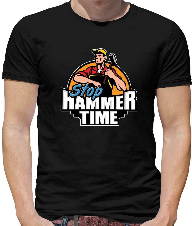 Camiseta para hombre Stop Hammer Time-DIY-Tradesman-Builder-Carpenter-Handyman hombres de manga corta Camiseta top Camisetas básicas