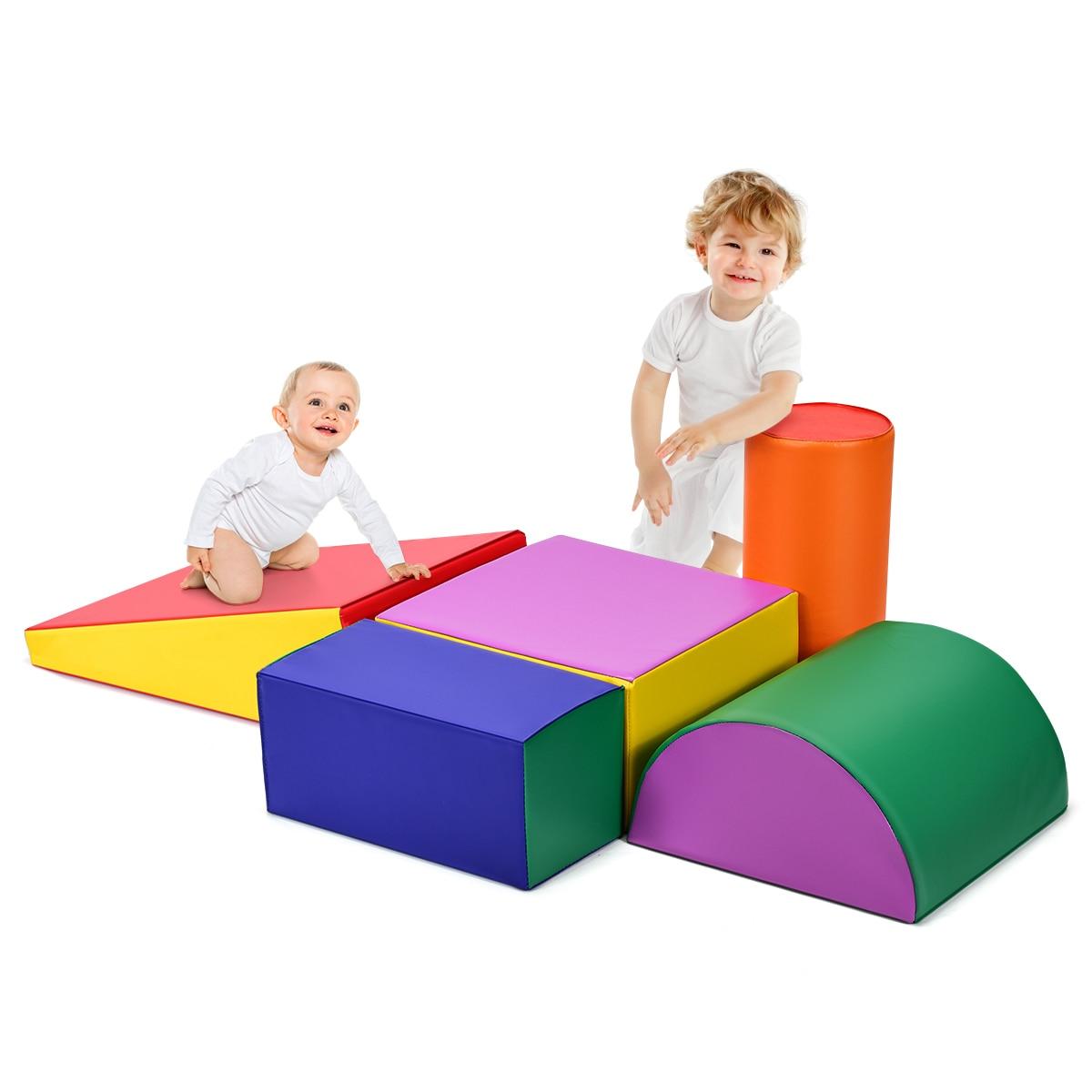 مجموعة إسفنجية للأطفال الصغار ، لعبة زحف للأطفال الصغار ، لعبة تسلق آمنة نشطة