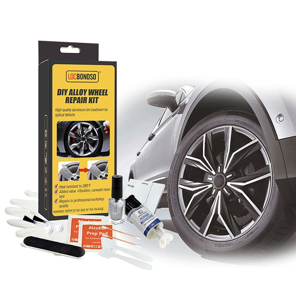 Новый набор для ремонта автомобильных колес из алюминиевого сплава, можно мыть, набор инструментов для ремонта обода автомобиля, ремонт вмя...