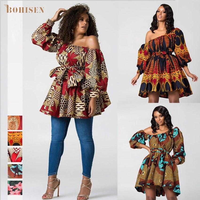 BOHISEN Dashiki vestidos africanos para mujeres sin mangas niñas vestido de fiesta Bazin ropa Ankara rico Tops verano mujeres africanas