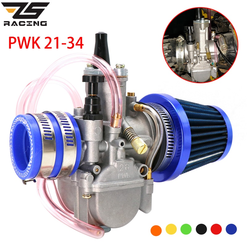 ZS Racing-مكربن سباق الدراجات النارية ، محول ، فلتر هواء ، مجموعة واحدة لـ 21 24 26 28 30 32 34 مللي متر ، 4T Stroke 50cc-250cc Moto