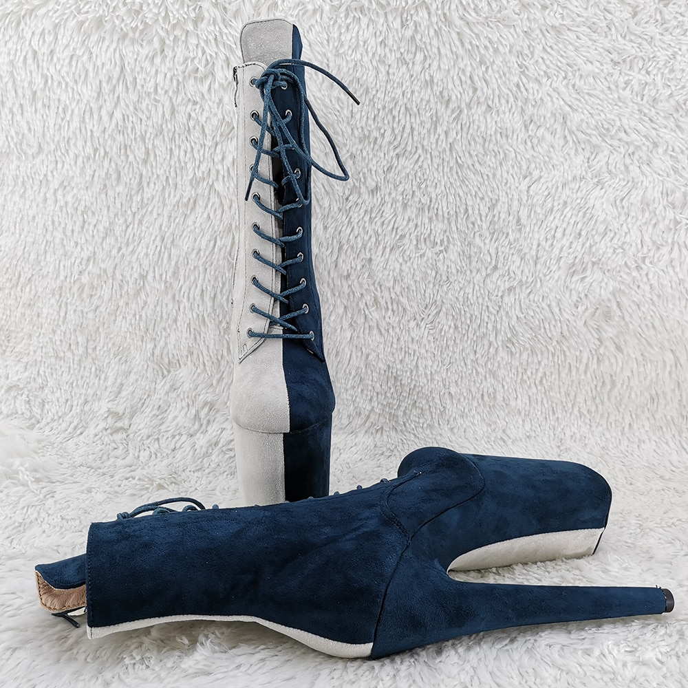 Leecabe  20CM/8inches ankle boots sexy exotic  Pole dancing shoes High Heel platform Pole Dance boot