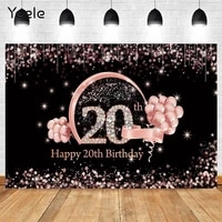 yeele glitter pink 20th birthday party decoration for photography custom background for photocall boda wedding bridal backdrop