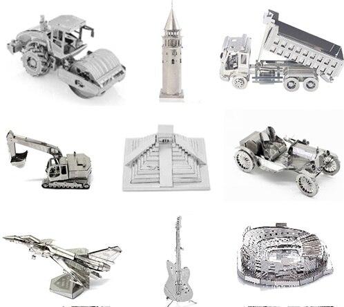 Jouets créatifs 3D modèle en métal Puzzle construction avion voiture instrument variété bricolage jouet modèle kit dassemblage adulte Puzzle