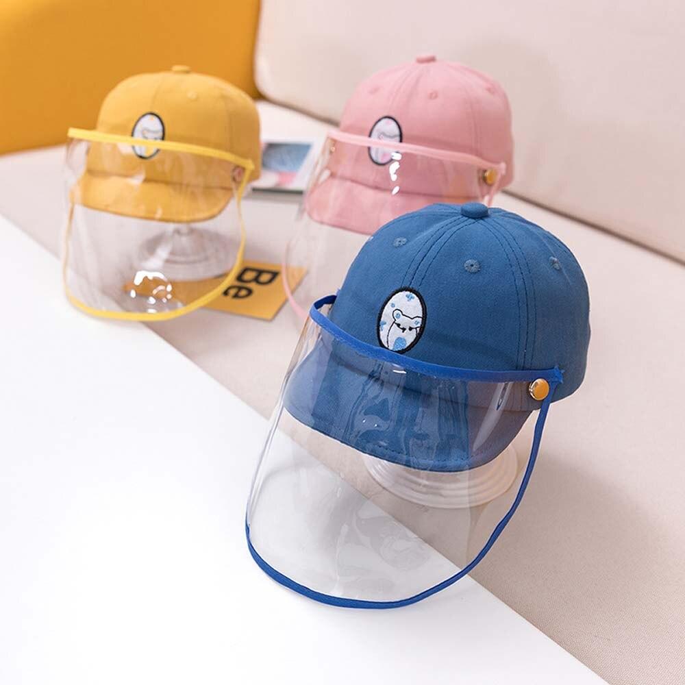 Bebê anti-poeira e anti-nevoeiro chapéu anti-cuspindo chapéu de proteção à prova de poeira capa de boné de tamanho ajustável