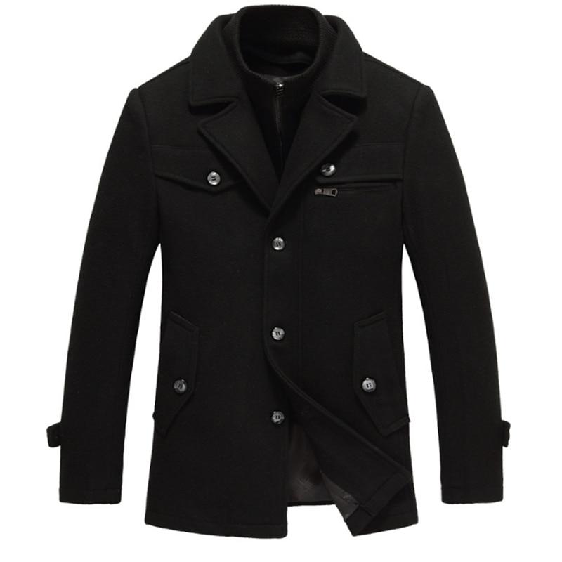 Chaqueta larga informal de negocios para hombre, abrigo largo Masculino, chaqueta Erkek...