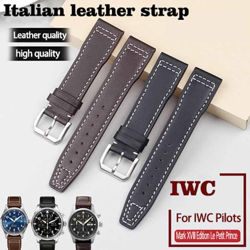 Genuine Leather Strap 20mm 21mm Replacement Watch Band Suitable for IWC Pilot Mark XVIII IW327004/37