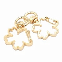 swivel clasp cherry blossom shaped lobster clasp snap purse hooks swivel snap hook for key chain purse hardware supplies 35mm