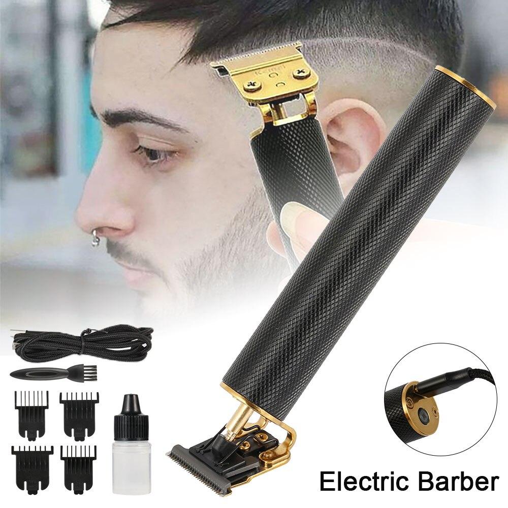 Cortadora de pelo profesional para hombres, cortadora de peluquero, corte de pelo, cortador de escultura, afeitadora recargable, recortadora de borde inalámbrico ajustable