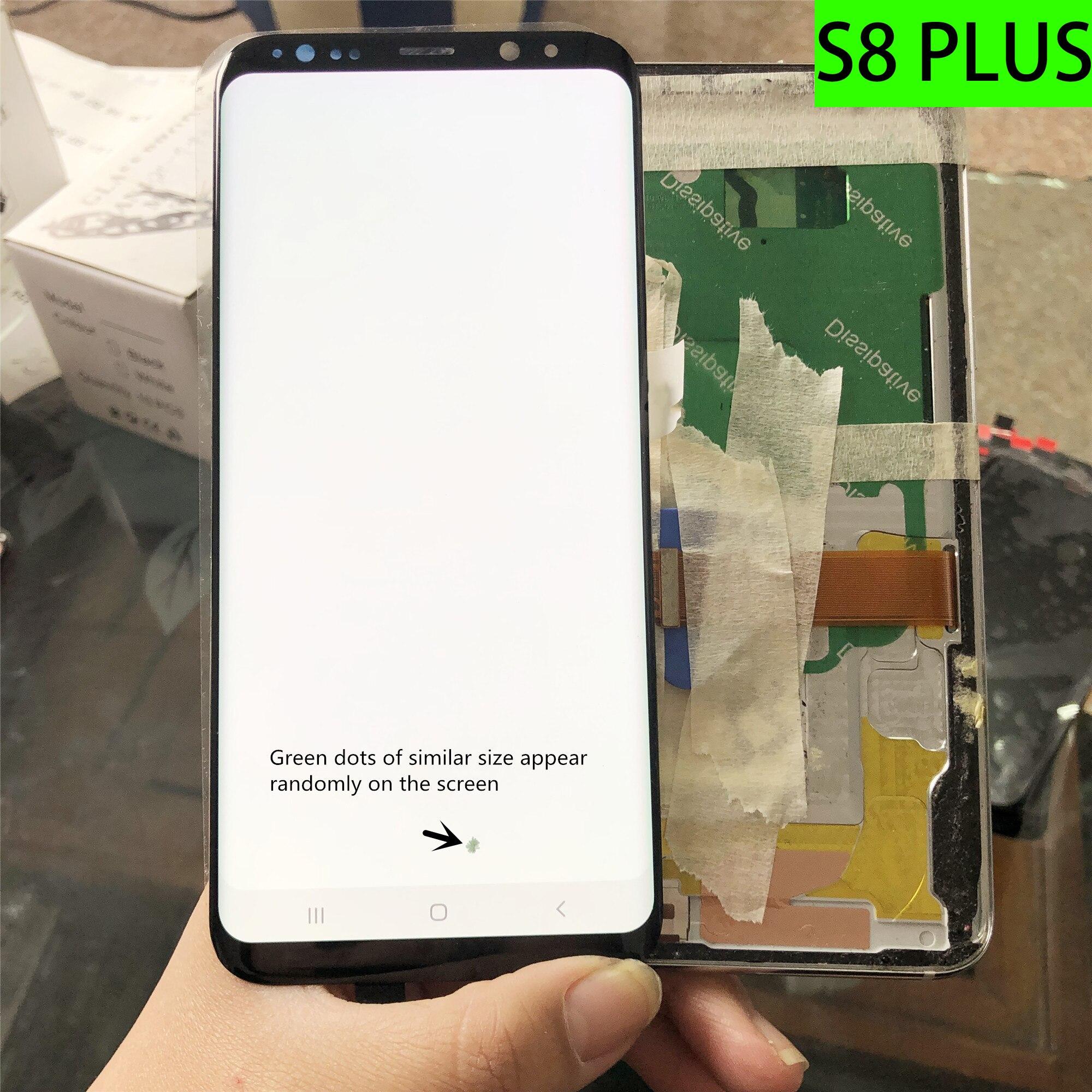 الأصلي استبدال لسامسونج غالاكسي S8Plus LCD عرض سوبر AMOLED شاشة عرض S8 زائد G955F G955A LCD بقعة مع الإطار