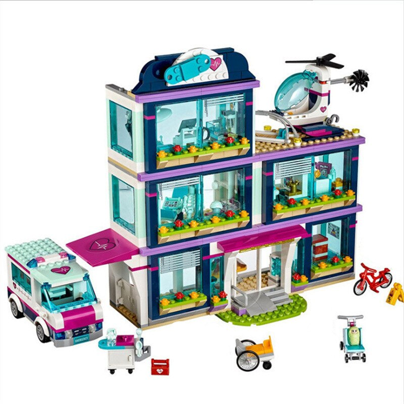 Serie Friends Girl 932 Uds. Juguetes de bloques de Construcción Hospital Heartlake niños ladrillos juguete niña regalos compatibles con Legoinglys ladrillos