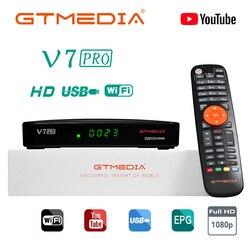 Gtmedia v7 pro receptor satélite tv receptor 1080p DVB-S2 t2 ca cartão suporte dvb s2 pk freesat v7 plus v7s hd decodificador