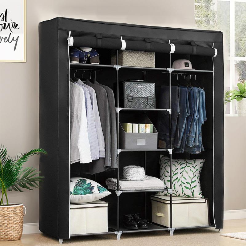 Многофункциональный шкаф, складной шкаф для одежды, шкаф для самостоятельной сборки, простая установка, усиленный Тканевый шкаф, 175x150x45 см, ...