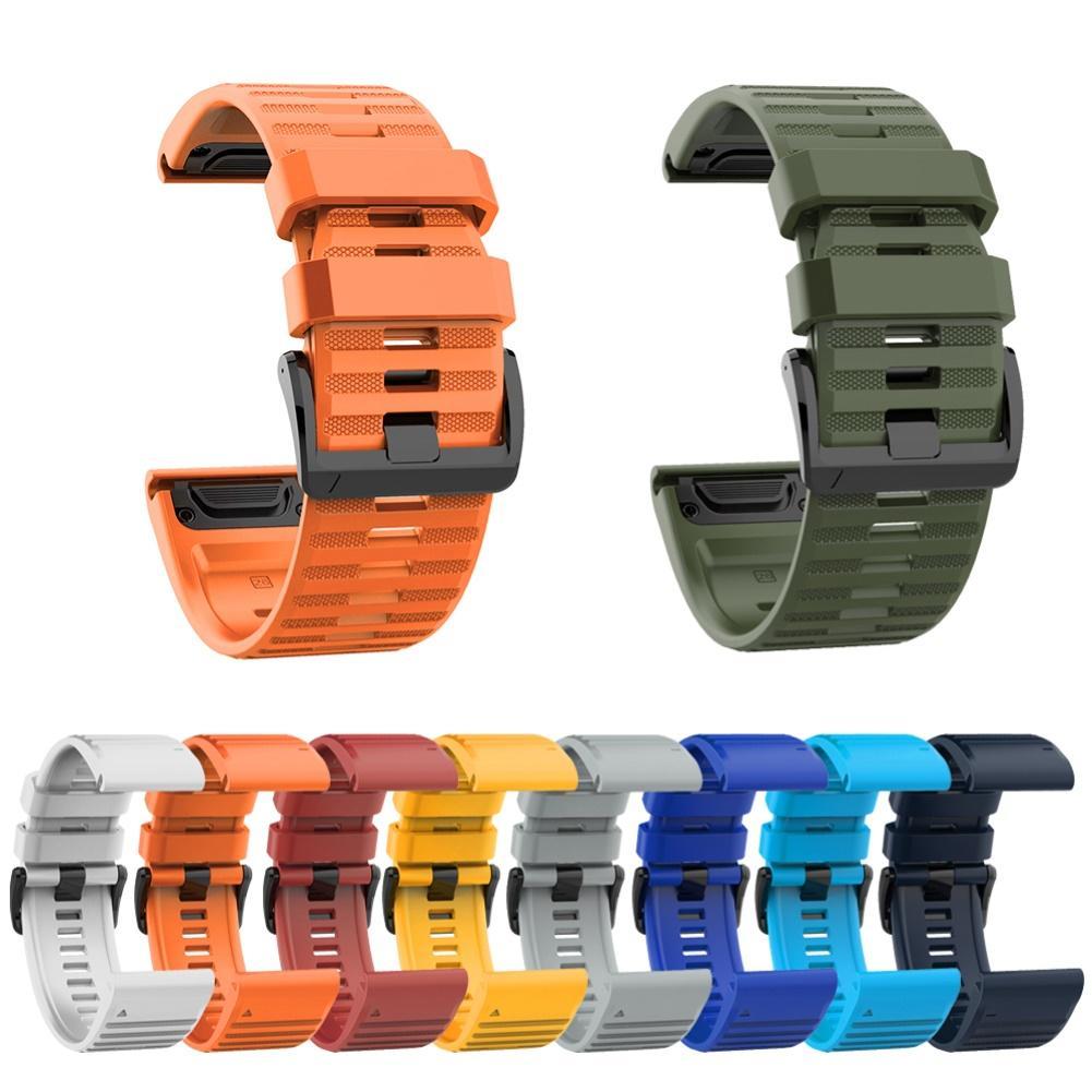 26mm Silicone sport montre bracelet bracelet pour Garmin Fenix 6X 5X 3 HR D2 Bravo