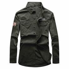 VINRUMIKA 2020 militaire hommes printemps décontracté marque pur coton armée vert chemise homme automne kaki à manches longues chemises noir bleu hauts
