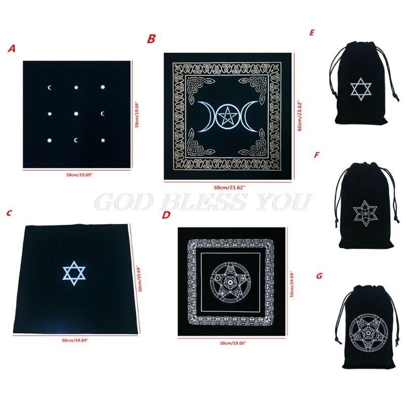Altaar Tarot Doek Pentagram Tarot Game Tafelkleed Board Game Fluwelen Tarot Bag Drop Shipping
