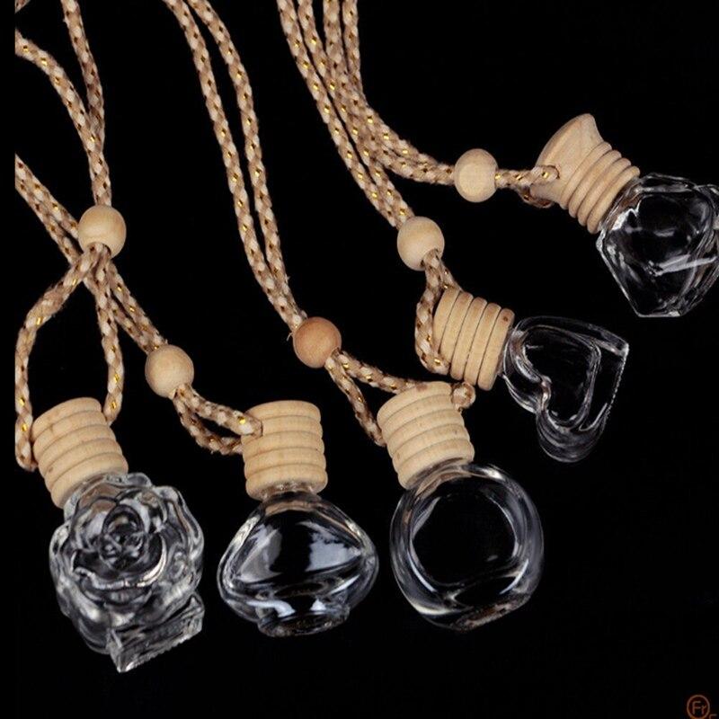 Glass Clear Refillable Car Fragrance Perfume Air Freshener Hanging Bottle UK ML Various Pendants Ornaments