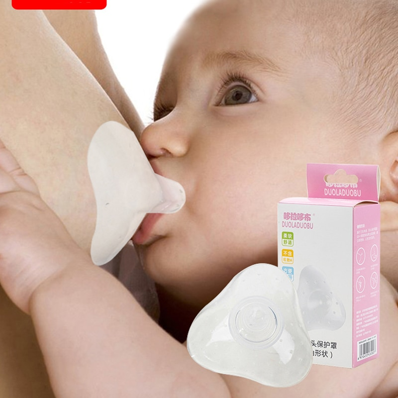 2pcs Silicone Nipple Protector Mothers Feeding Shield Breastfeeding Protection Cover Cap Women
