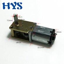 Mini moteur 12 volts V engrenage électrique cc 3V 6V 12 V réducteur de vitesse 15/30/60/120 tr/min moteurs inverse Moter métal N20 bricolage modèle intelligent 3D