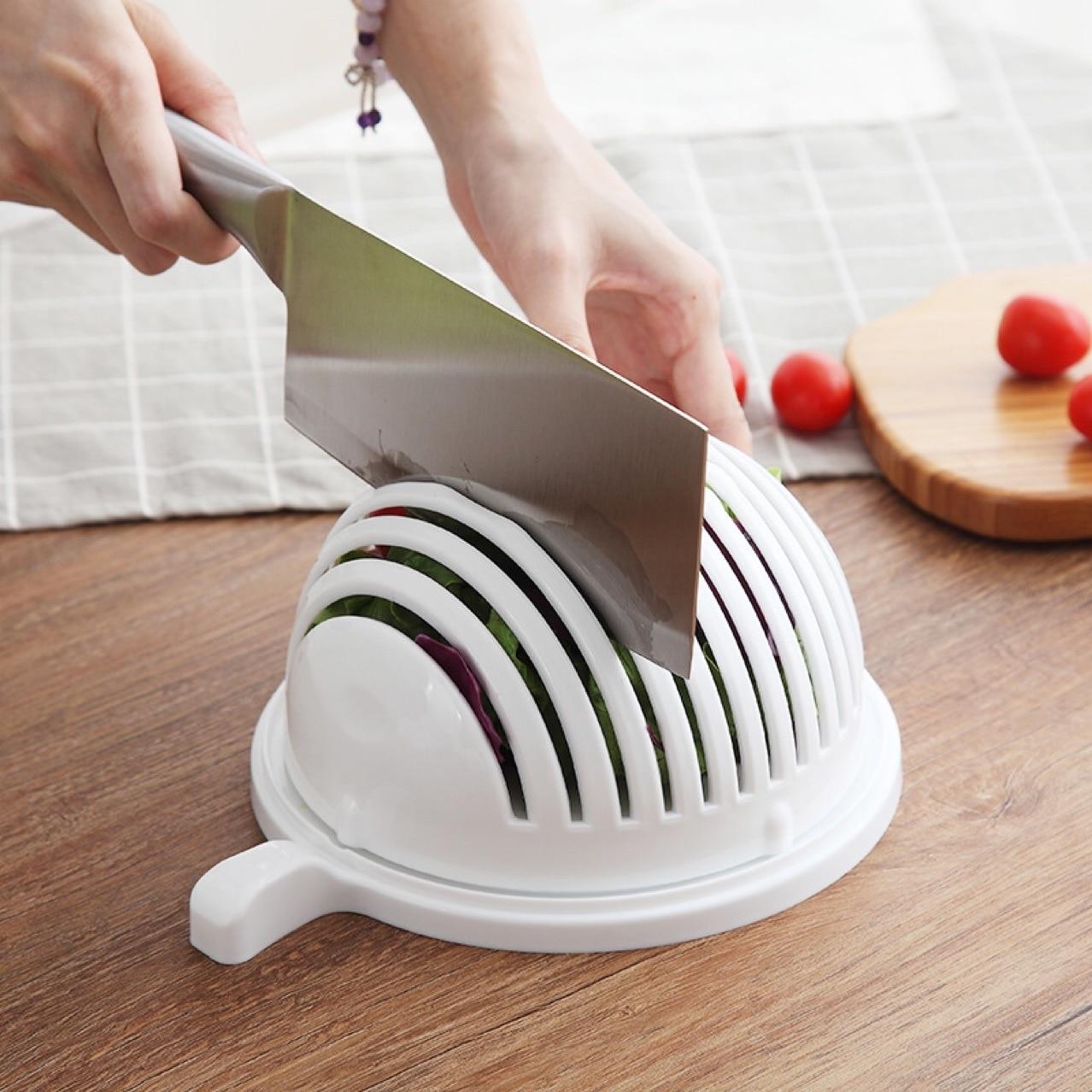 Para ensalada de frutas para el hogar cuenco multifuncional para cortar frutas...