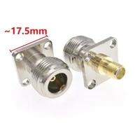 adaptador conector de rf hembra a hembra convertidor de prueba 4 agujeros panel de reborde 1 uds tipo n