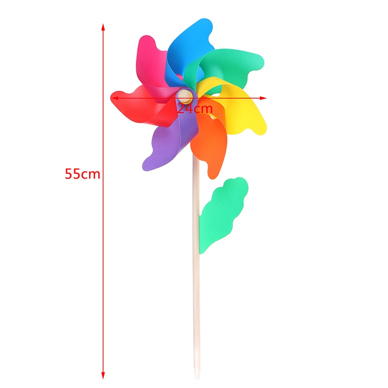 2021 New Windmill Wind Spinner Beautiful Wood Garden Yard Party Ornament Decoration Kids Toys Lovely Handmade Craft