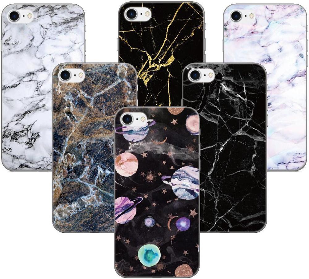 Fundas suaves de TPU con textura de mármol, funda de teléfono para Ulefone Note 7 / Note 7P / Power 3S / Power 6 / S10 S1 Pro S7, funda de silicona