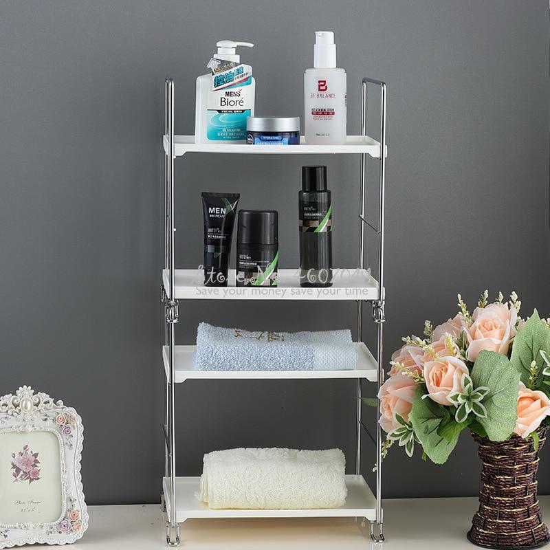 Estantería multifunción metálica chapada en cobre para baño, estantería antióxido, mesas de consola, estante de almacenamiento apilable para cocina, mesas de centro
